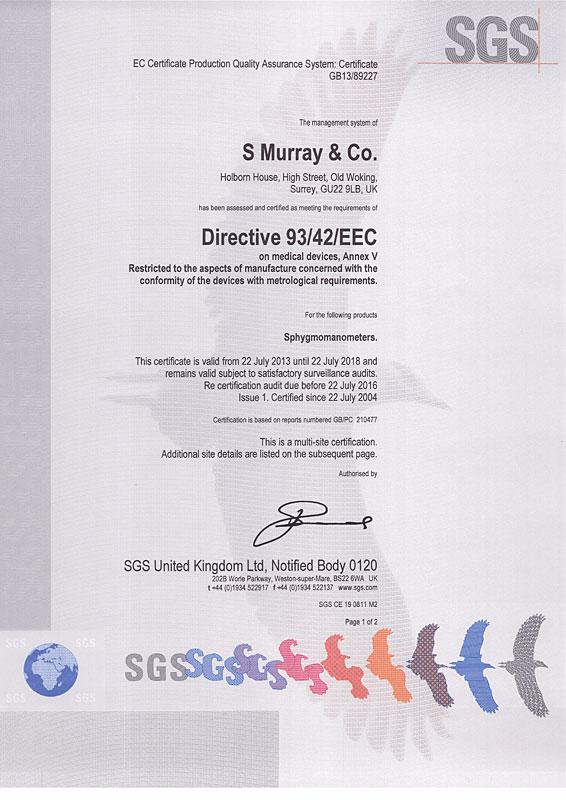 eec directive sphygmomanometers certificate dare site